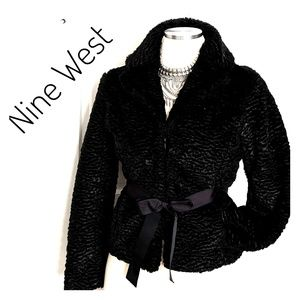EUC ~ NINE WEST Texture Velvet Jacket Coat